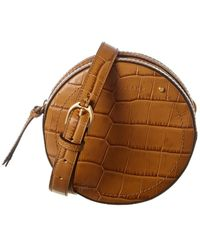 Longchamp Small Croc-embossed Leather Belt Bag - Brown