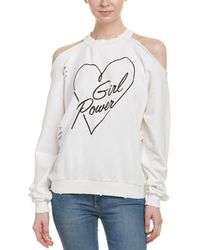 Honey Punch Graphic Pullover - White