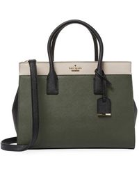 Kate Spade Cameron Street Candace Leather Satchel - Green