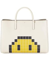 Anya Hindmarch Ebury Maxi Pixel Leather Tote - Natural