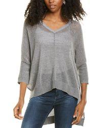 Bobi V-neck Sweater - Grey