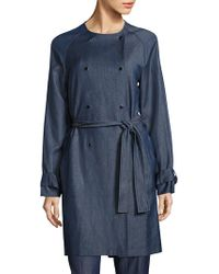 BOSS - Calrehna Denim Trench Coat - Lyst