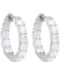 Diana M. Jewels . Fine Jewellery 18k 4.75 Ct. Tw. Diamond Hoops - Multicolour
