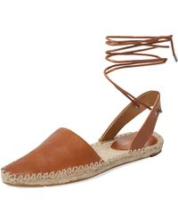 Belle By Sigerson Morrison Mai Ankle-wrap Espadrille - Brown