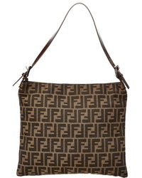 Fendi Brown Zucca Canvas Shoulder Bag