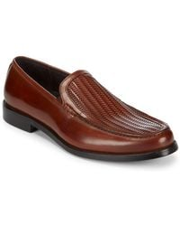 Kenneth Cole Light Filter Leather Dress Shoes - Brown