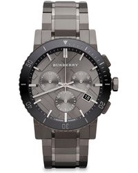 Burberry Men's 42mm Stainless Steel & Ceramic City Bracelet Watch - Gray