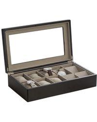 Bey-berk Watch & Pocket Watch Storage Box - Black