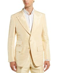 Tom Ford Atticus Silk Jacket - Yellow