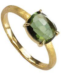 Marco Bicego Murano 18k Green Tourmaline Ring