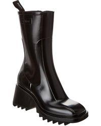 Chloé Black Betty - Pvc Rain Boots Sandals