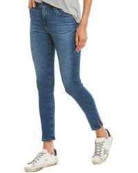 AG Jeans The Farrah Crystal Clarity High-rise Skinny Ankle Cut - Blue