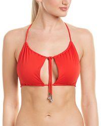 La Perla Triangle Swim Top - Red