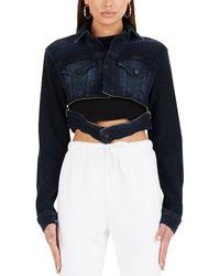 Cotton Citizen Super Crop Jacket - Blue