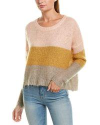 Apiece Apart Colorblocked Wool & Mohair-blend Sweater - Multicolor