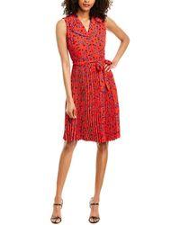 T Tahari A-line Dress - Red