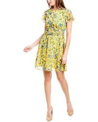 Sam Edelman Retro Floral Dress - Yellow