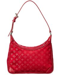 Louis Vuitton - Red Monogram Satin Little Boulogne - Lyst