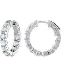 Diana M. Jewels - . Fine Jewellery 18k 4.20 Ct. Tw. Diamond Hoops - Lyst