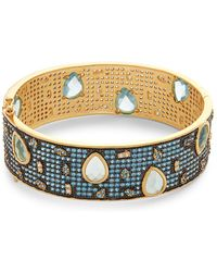 Freida Rothman - Baroque Blues Crystal Bangle Bracelet - Lyst