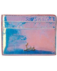 Christian Louboutin Kios Leather Card Holder - Metallic