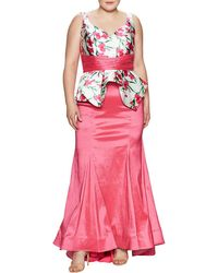 Mac Duggal - Macduggal Floral Print Gown - Lyst