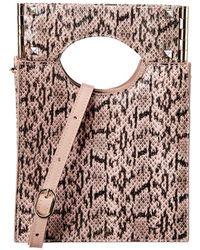 Salar Arya Snake-embossed Leather Shoulder Bag - Pink