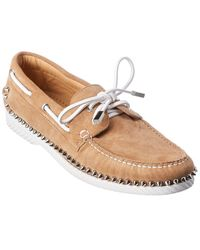 Christian Louboutin Steckel Suede Boat Shoe - Brown