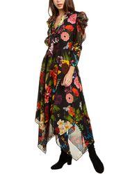 Alice + Olivia Karen Silk-trim Dress - Black