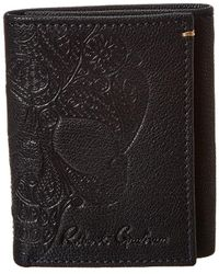 Robert Graham Recon Trifold Leather Wallet - Blue