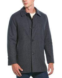 Hart Schaffner Marx Barcelona Wool-blend Coat - Grey
