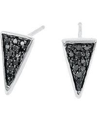Adina Reyter - Silver Diamond Triangle Studs - Lyst
