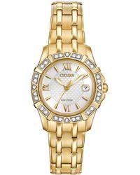 Citizen - Women's Stainless Steel Diamond Watch - Lyst