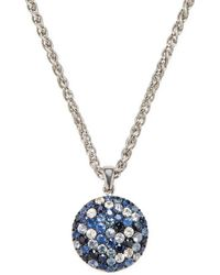Effy - Sterling Silver Sapphire Pendant Necklace - Lyst