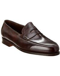 John Lobb Lopez Leather Loafer - Brown
