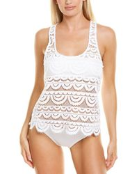 Pilyq Lace Cover-up Tank - White