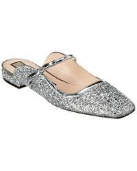 N°21 Glitter Leather Flat - Metallic