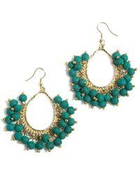 Shiraleah Amy Bead Earrings - Blue