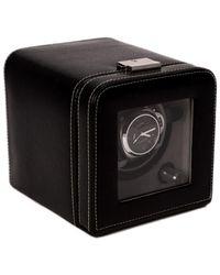 Bey-berk Leather Single Watch Winder Case - Black