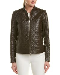 Lafayette 148 New York - Turtleneck Leather Jacket - Lyst