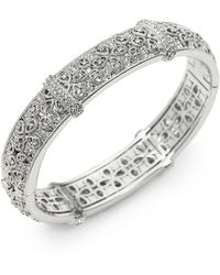 Adriana Orsini - Pavé Filigree Bangle Bracelet - Lyst