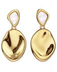 Jenny Bird 14k Plated Mother Of Pearl Catalina Earrings - Metallic