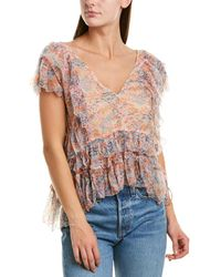 Love Sam - Water Lily Ruffle Blouse - Lyst