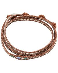 Chan Luu - Triple Crystal Leather Bracelet - Lyst