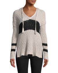 27milesmalibu Stripe Sweater Hoodie - Black