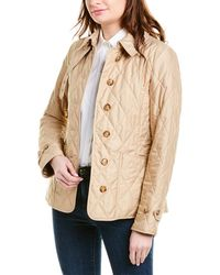 Burberry Diamond Quilted Thermoregulated Jacket - Natural
