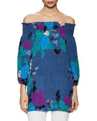 Plenty by Tracy Reese - Off-the-shoulder Printed Top - Lyst