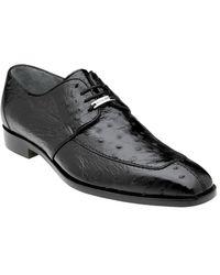 Belvedere Rovigo Ostrich Dress Shoe - Black