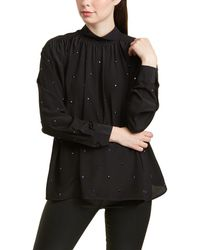 Zadig & Voltaire Teddy Strass Silk Tunic - Black