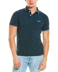 Superdry Poolside Pique Polo Shirt - Blue